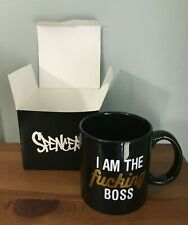 """New Spencer's Over-sized """"I Am the F'ing Boss"""" Coffee Mug - 22 oz. New with Box"""