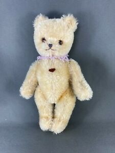 """ANTIQUE COLLECTABLE BERG BLONDE COLOURED FUR JOINTED LIMB AUSTRIAN TEDDY BEAR 7"""""""