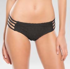 NEW Women's Vanilla Beach Crochet Cut Out Swim Bikini Bottom Black Size XL Swim