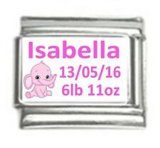 Italian Charms Custom Made Baby Girl with Elephant