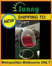 Brand New Outdoor Swing Egg Trapeze Wicker Rattan Hanging Basket Chair White