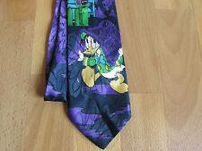 Púrpura Y Negro Corbata Superior el Pato Lucas Con Verde De Disney