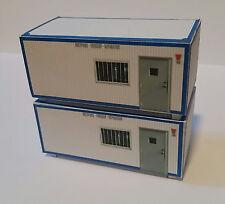 Raumcontainer Baubüro Bürocontainer 2er Set HO 1:87 Kartonmodellbausatz