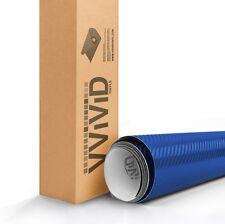 3D Metallic Blue carbon fiber vinyl car wrap sheet roll film 30M x 1.52M VV9