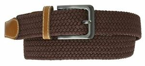 Marshal Braided Elastic Stretch Belts with Gunmetal Buckle S110