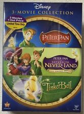 DISNEY PETER PAN and TINKERBELL 3 DVD GIFT BOX SET (DVD, 2008, 3-Disc Set)