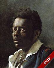 STUDY PORTRAIT OF A BLACK MAN PAINTING GÉRICAULT FRENCH ART REAL CANVAS PRINT