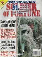 SOLDIER OF FORTUNE mag Aug 2002 Sex Slaves, Vietnam Snipers, Death of the West