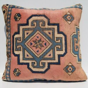 "28"" Decorative Pillows, Turkish vintage carpet rug pillow floor cushion cover,"