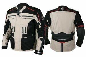 Venti Mens Wax Cotton Brown Waterproof Motorcycle Jacket VEJ002 FREE P/&P