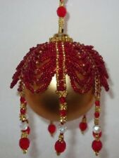 X479 Bead PATTERN ONLY Beaded Draped Christmas Ornament Cover Pattern