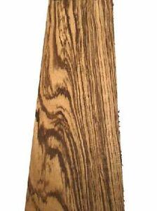 Zebrano Bohle Holz Zebrawood rustikal 90x19cm 63/65mm