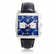 TAG Heuer Men's Genuine Leather Strap Wristwatches