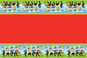 The Wiggles Party Table Cover 1.8m x 1.3m - The Wiggles Party Supplies