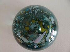Vintage Edward Koztoski Blue Studio Art Glass Paperweight