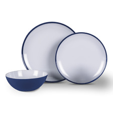 Kampa Dometic Midnight Blue 12 Piece Melamine Dinner Set