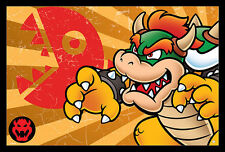 SUPER MARIO BOWSER STRIPES  24x36 POSTER NINTENDO VIDEO GAME WII NINTENDO SWITCH