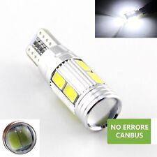 4 lampadine led T10 W5W 10 SMD 5630 CANBUS luce bianco fari posizione e targa