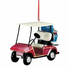 Red Golf Cart W Cooler Beach Ornament New
