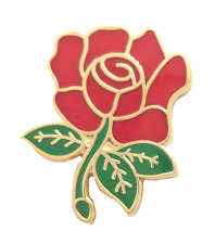 Labour Party Red Rose Pin Badge