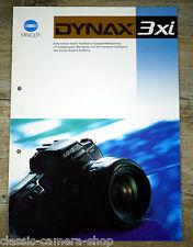 Prospekt MINOLTA DYNAX 3xi Kamera / Objektive / Blitzgerät Broschüre (X4051