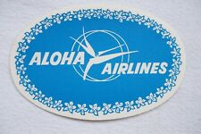 Aloha Airlines Airline Luggage Label
