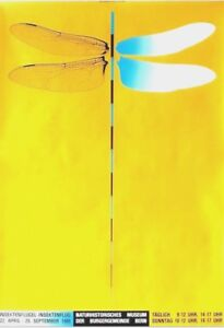 Original vintage poster DRAGONFLY WINGS SWISS EXPO 1988