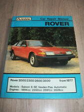 AUTODATA ROVER 2000/2300/2600/3500 CAR REPAIR MANUAL DO IT YOURSELF