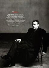 Robert De Niro 1-page clipping 2000 The Master