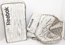 2 LOT - REEBOK 18K PREMIER 4 INTERMEDIATE HOCKEY GOALIE CATCH & BLOCKER GLOVE