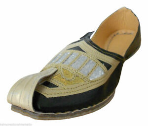 Men Shoes Traditional Handmade Wedding Leather Traditional Loafers Jutties US 10