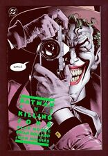 DC Comics Batman The Killing Joke NM-M 9.8 Alan Moore Bolland Art 1988 LI-01