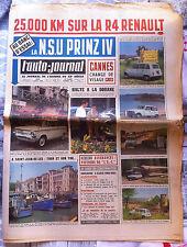 b)L'AUTO-JOURNAL 304 du 08/1962; la R4 / NSU Sprinz IV/ BMW 1500/ St jean de Luz