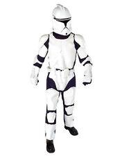"STAR Wars Clone Trooper Costume Da Uomo S2, STD, circonferenza petto 44"", girovita 30-34"", interno gamba 33"""