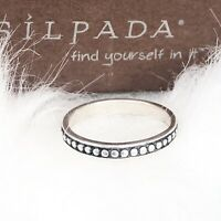 Silpada Sterling Silver Bead Ball Stackable Stack Ring R0593 Size 6 Modern Ring