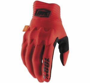 100% Cognito Gloves Size L Red/Black