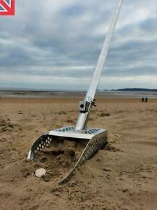 🍀Metal Detecting  Beach Sand Scoop with long 1m aluminium handle