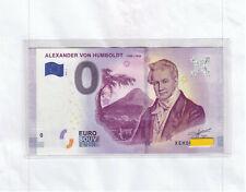 Humboldt XEHD 2019-1 Alexander von Humboldt 1769-1859 - 0 Euroschein + Hülle