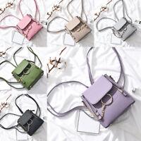 Women Crossbody Backpack Pu Leather Shoulder Bag Ladies Chain Satchel Bag CY