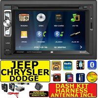 2007 & UP SELECTED CHRYSLER JEEP DODGE RAM CD/DVD BLUETOOTH USB CAR STEREO PKG