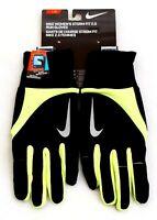 Nike StormFit 2.0 Black & Volt Run Gloves Running Women's Size Large  NWT