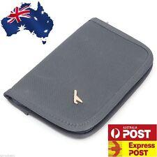 Grey TRAVEL WALLET PASSPORT HOLDER Document Credit Card ORGANIZER Bag ID Purse