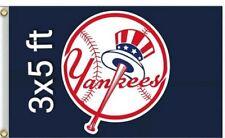 New York Yankees MLB Flag Banner 3x5  Baseball with built in 2 hanging grommets