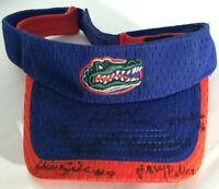 Team Signed Autographed Florida Gators NCAA SEC College Team Softball Visor Hat