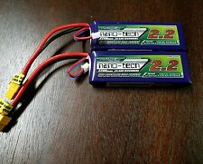 2 TURNIGY NANO-TECH 2200mAh 2S 25C 50C LIPO BATTERY 7.4V XT60 CAR  BUGGY LOSI