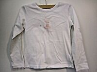 Jacadi girl's long sleeve white cotton top size 8A 128cm