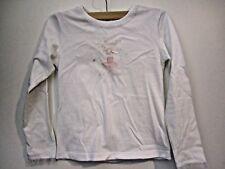 Jacadi girl's long sleeve white cotton top size 8A 128cm