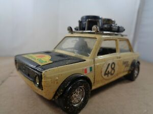 Polistil (IItaly) no.S7 Fiat 128 Rally Car In 1:25 Scale , Vintage Diecast Model