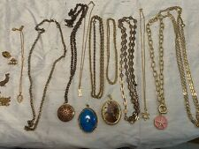 Fashion Costume Jewelry Lot Gold Tone Pendants Lockets Collection JM-11
