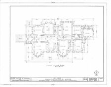 Historic house plans, Victorian Romanesque Mansion, architectural drawings
